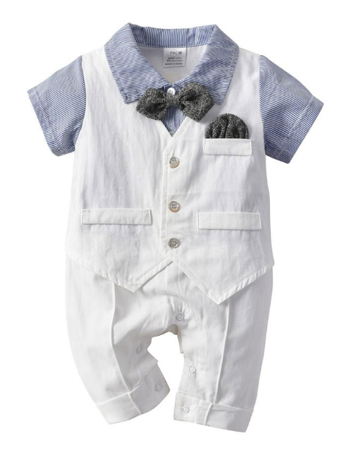Baby Boys Sets Baby Cotton Short Sleeve Rompers +Pants 2PCS