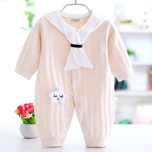 Rompers Baby Clothes Knitted Colored Cotton Jumpsuit Full-Sleeve