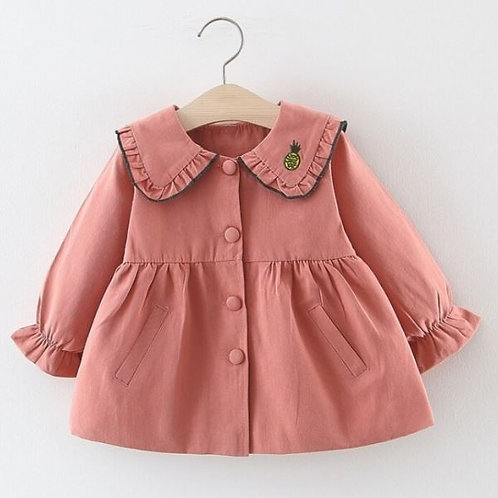 Spring Autumn Girls Jacket Trench Coat