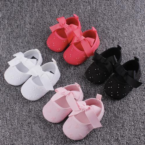 Toddler Girl First Walkers Newborn Baby Bowknot Soft Prewalker Sneakers