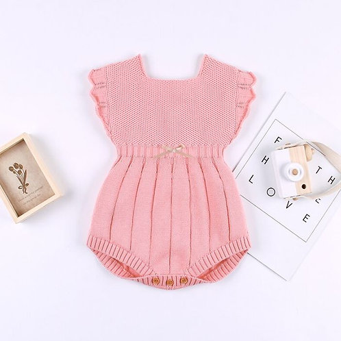 Solid Knitted autumn Newborn Jumpsuits Clothes Baby Girls knit Rompers winter