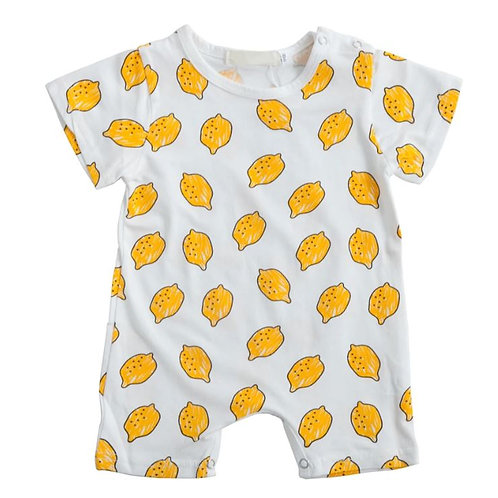 Baby Summer Cotton Romper Knitted Friut Print Short-sleeved Jumpsuit