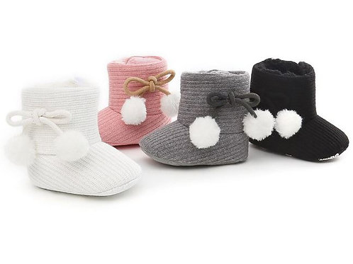 Thick Winter Infant Toddler Baby Boots knitting Warm Snow Boots Fur Shoes
