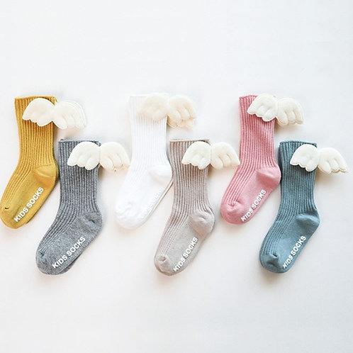 Wings Baby Girls Socks Toddler Knee Length Cotton Socks Cute Long