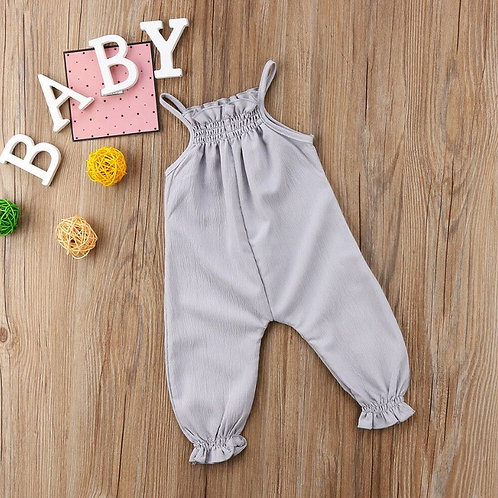 Baby Girl Romper Solid Color Sleeveless Outfit Toddler Baby Romper Sunsuit