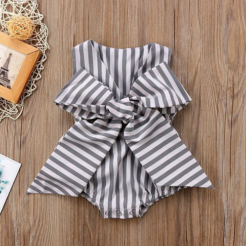 Baby Rompers Cotton Striprd Rompers Infant Sleeveless Jumpsuits Toddler