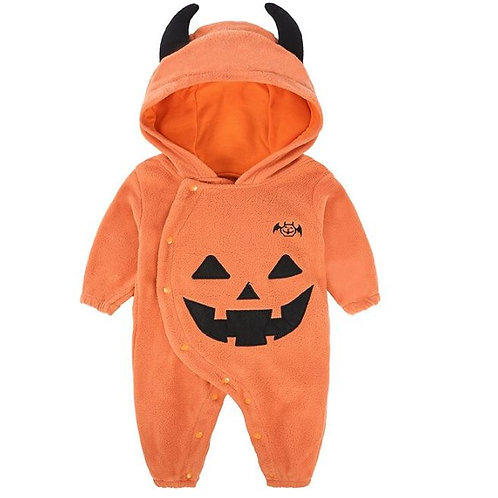 Halloween Rompers Baby Boys Girls Clothing Pumpkin Jumpsuits Hooded Toddler
