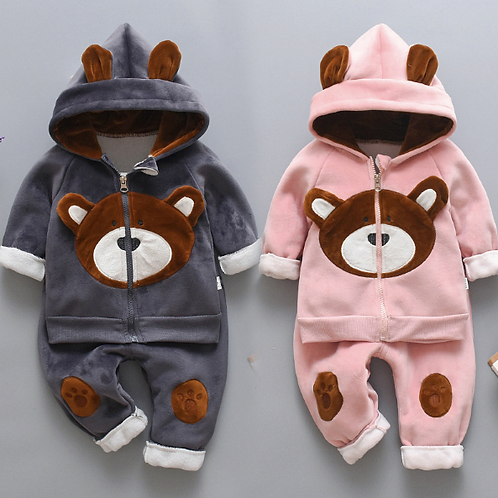 Winter 2pcs/Set Sweater + Pants Super Warm Infant Suit