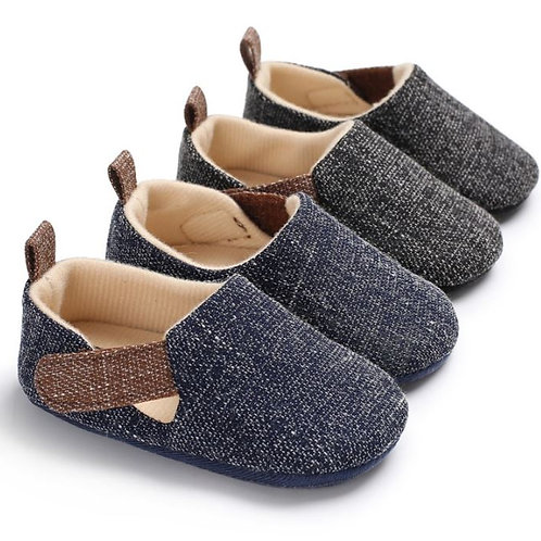 Baby Solid Shoes Non-slip Breathable Toddler Hook Loop First Walkers