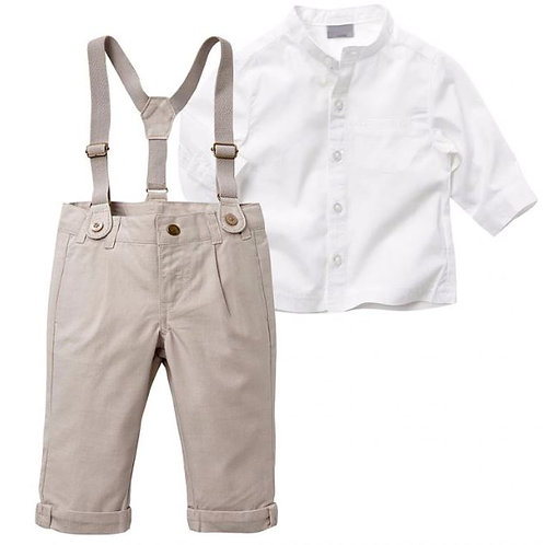 Autumn Boys Clothing Set Summer Baby Suit Shorts Shirt Formal Wedding Party