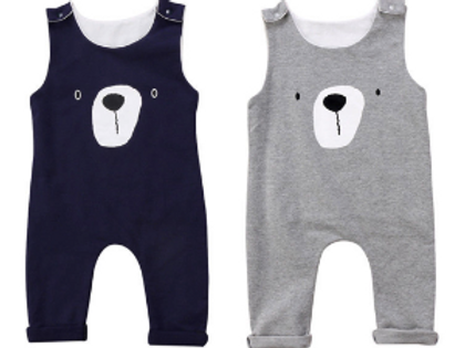 Bear Newborn Baby Boy Girl Romper Jumpsuit Sunsuit