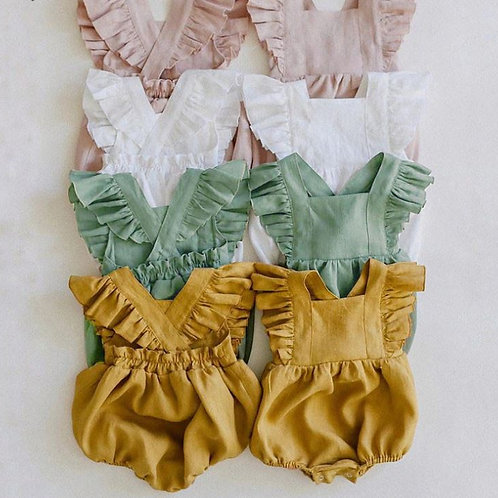 Summer Baby Girls Ruffles Rompers Playsuit Jumpsuits