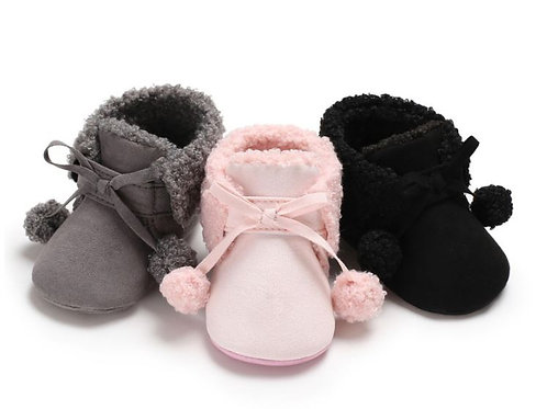 Baby Booties Cute Infant Soft Plush Anti Slip Snow Boots Warm
