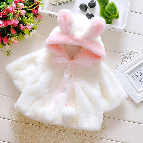 aby Girls Fur Winter Warm Coat Outerwear Cloak Jacket Clothes Easter Costume