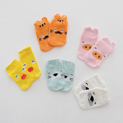 Unisex Animal Socks 3D Printed Cute Cat Animal Cartoon Cotton Socks
