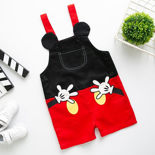 Baby Cartoon Overalls Casual Pants Kid Strap Pants Spring Summer Jumpsuits