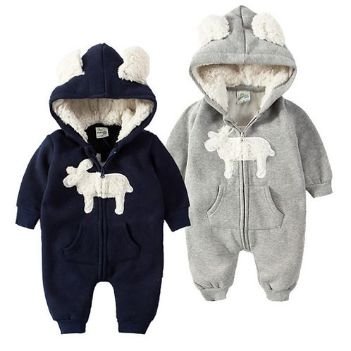Rompers Infant Winter Clothes Baby Jumpsuit Hooded Costume