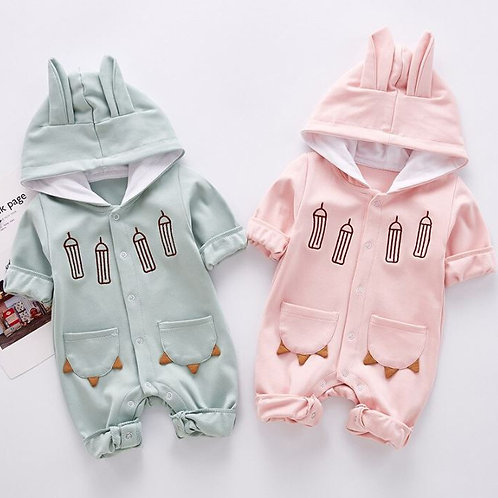 Baby Rompers Newborn Baby Cartoon Long-sleeved Jumpsuits
