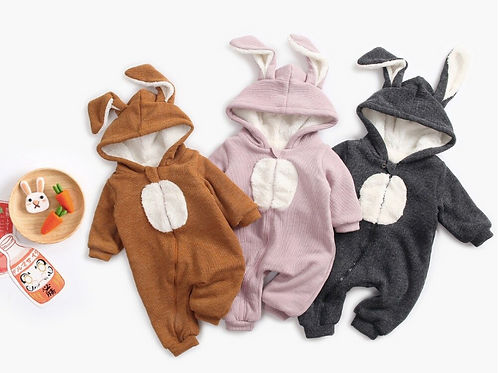 Baby Rompers Winter Thick Cotton Jumpsuits Warm Clothes Infant