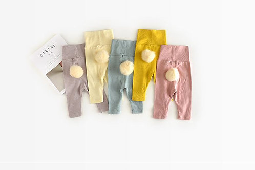 Winter Autumn Knitted Cotton Casual Leggings Korean Style Baby Trousers