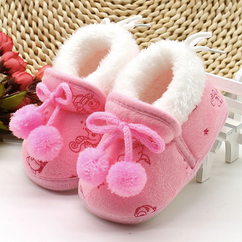 Warm Toddler Princess Boots First Walkers Baby Shoes for Girls Soft Soled
