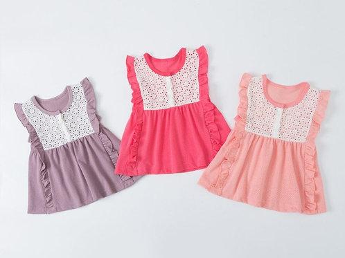Summer Girls Casual Sleeveless Lace Design Dress Costume Baby Children Dresses