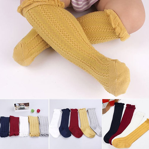 Baby Kids Toddlers Girls Knee High Stocking Tights Cute New Leg Warmer Stockings