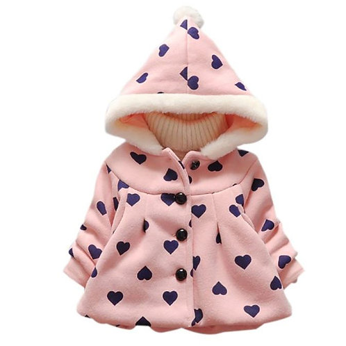 Outerwear Baby Girls Print Cotton Hoodie Outerwear Warm Coat Clothes Jackets