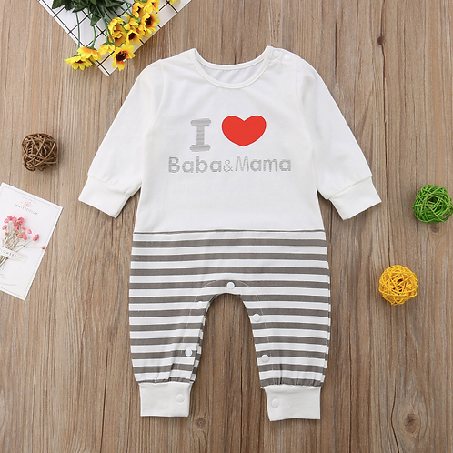 Baby Romper Striped Jumpsuit Cotton Outfits Infant Autumn Winter Roupa Menina
