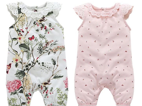 Baby Girl Rompers Lace Flowers Jumpsuits Clothes Bodysuits One-Pieces