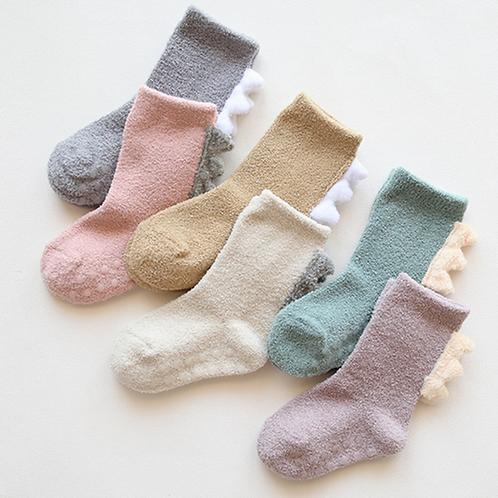 Toddler Cotton Kids Wings Baby Girls Long Leg Warmers Knee High Socks 3D