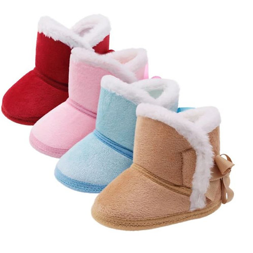 Winter Boots First Walkers Anti-slip Infant Toddler Kids Girl Footwear Shoes