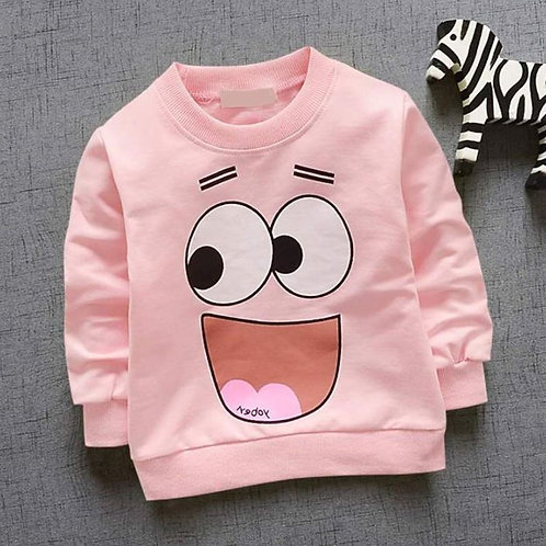 Toddler Baby T Shirt Long Sleeve Cotton Cartoon Sweatshirt