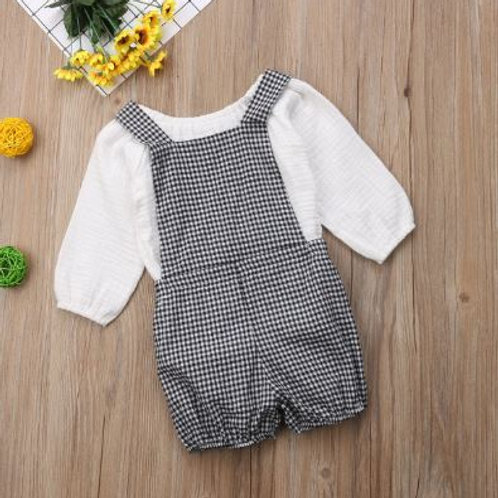 Newborn Toddler Kids Baby Girls Tops Skirts+Bib Pants 2Pcs Clothes Outfits