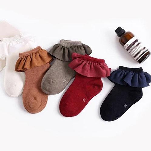 Baby Girls Socks Ruffle Princess Cotton Sock Multi Colors Princes Socks