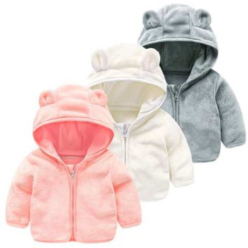 Kid Infant Baby Cartoon Ear Hooded Pullover Tops Warm Clothes Coat clothes