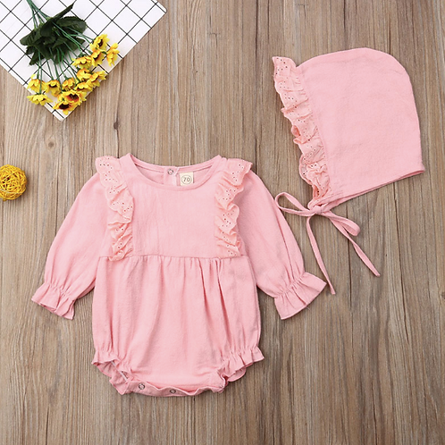 Baby Girl Clothes long Sleeve Ruffles Bodysuit Elegant Cute lovely Sunsuit