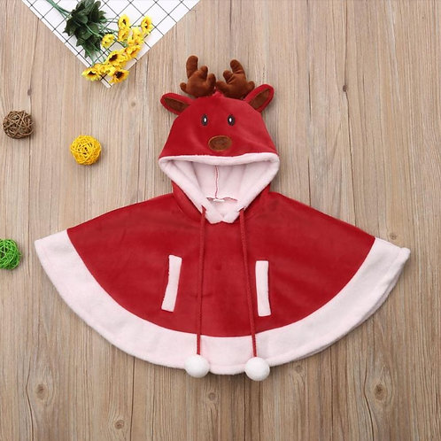 Baby Girls Jackets Christmas Winter Hooded Warm Outwear Jacket