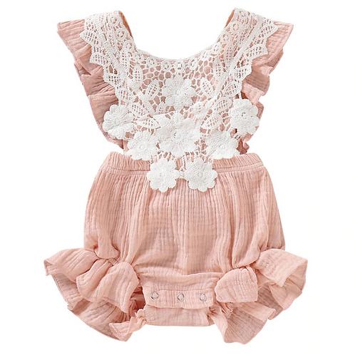 Fashion Newborn Baby Girls Cotton Lace Romper Jumpsuit Outfits Sunsuit Clothes