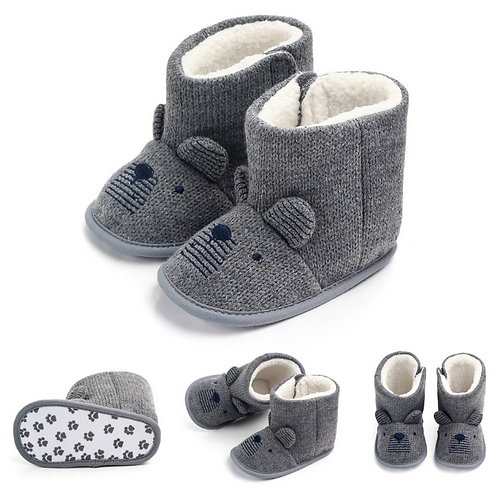 Baby Snow Boots Soft Sole Bow Anti-Slip Warm Winter Shoes