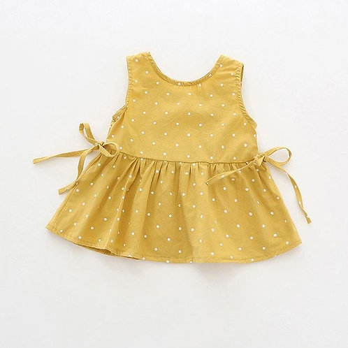 Baby Girls Polka Dot Printed Strap Dress Cotton Kids Toddler Sleeveless