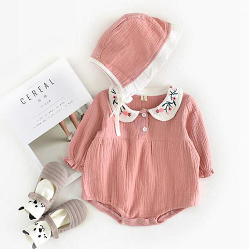 Korea & Japan Baby Girl One-piece Jumpsuits Long Sleeve Outfits