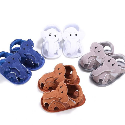 Elephant Pattern Hollow Shoes Summer Baby Casual Prewalkers Soft Sole Shoes