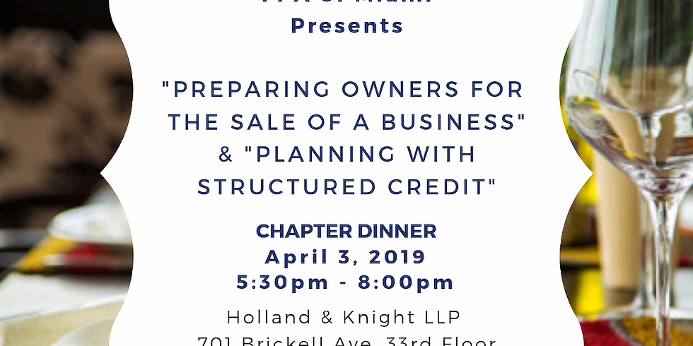 Wednesday, April 3rd | FPA of Miami Dinner Event