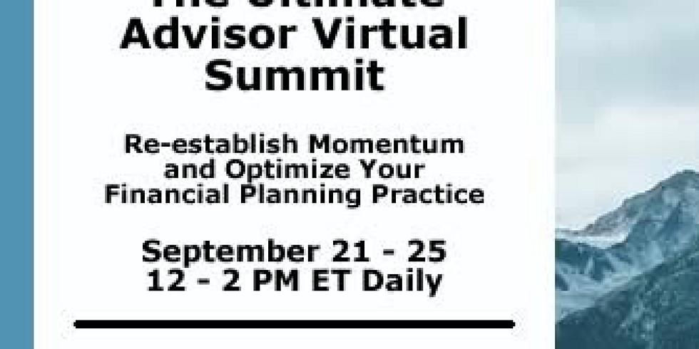 JOIN US! September 21-25, 2020 | The Ultimate Advisor Virtual Event