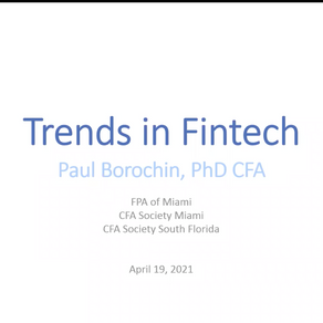 Current Trends in Fintech | April 19, 2021