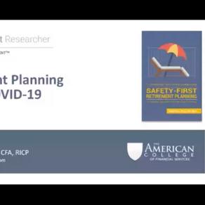 "Dr. Wade Pfau, PhD | ""Retirement Planning During COVID-19""| November 19th, 2020"
