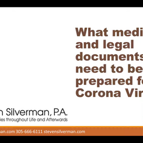 Webinar | What medical and legal documents do I need to be prepared for Corona Virus?