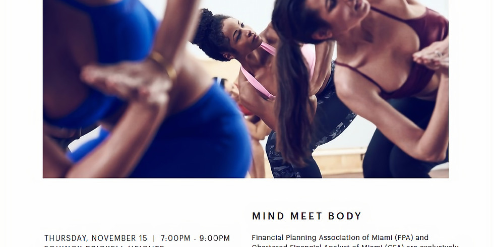Yoga Class - MIND MEET BODY
