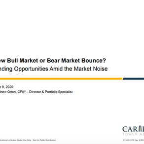 Carillon Towers Advisors Webinar - June 9th, 2020| New Bull Market or Bear Market Bounce?